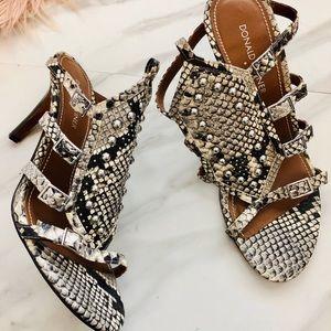 Donald pliner snake skin heels sandals size 9